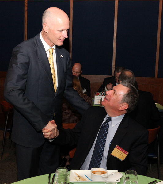 FCG President Deane Foote of the Site Selectors Guild got the chance to meet and speak with Florida Governor Rick Scott at the Orlando Site Selectors Guild Conference dinner.