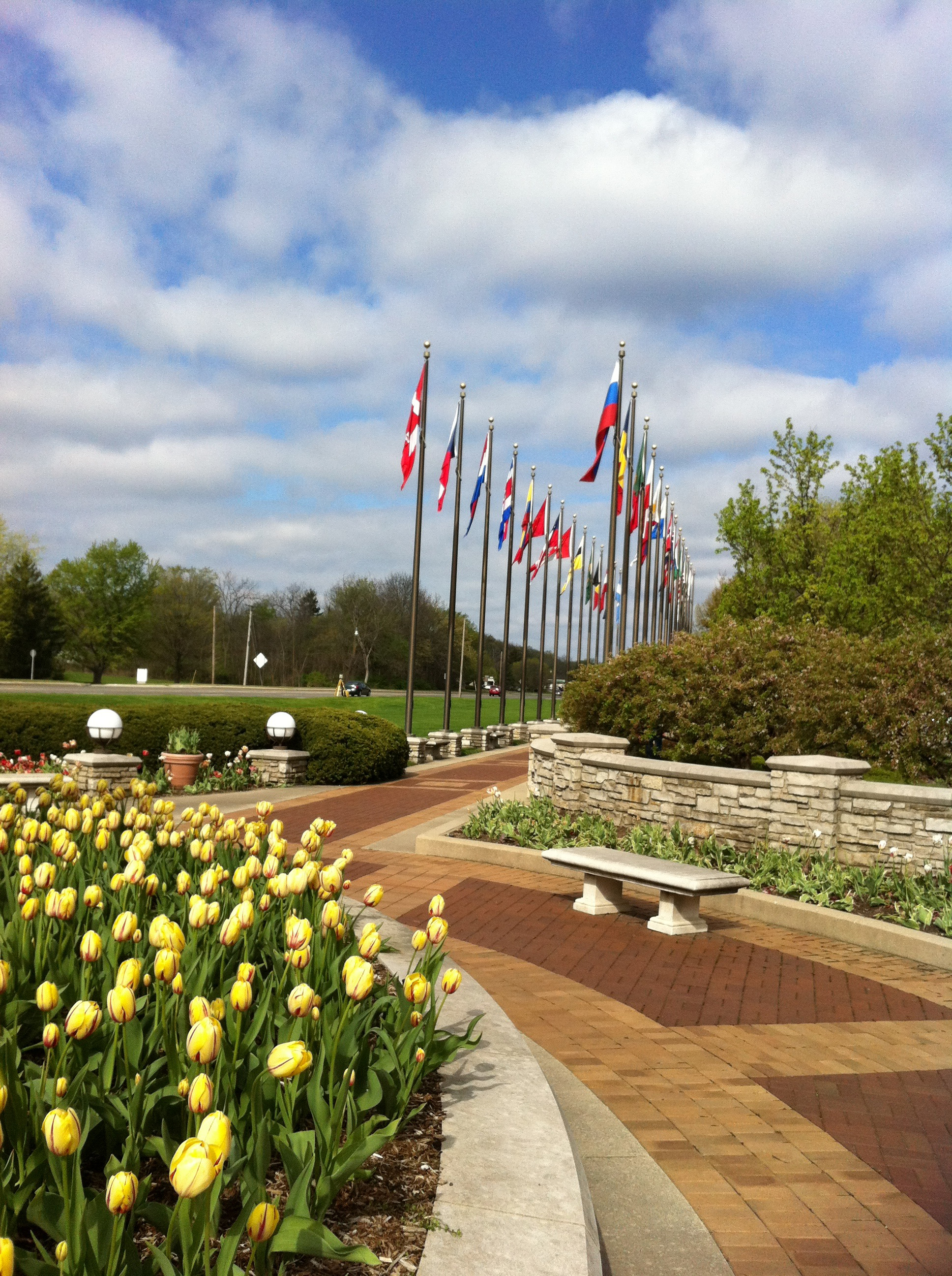Beautiful day at Amway HQ, Grand Rapids, MI