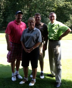 Russ Ullinger, Amy Torres, Ron Geisman and Chad Noble  Jackson Country Club