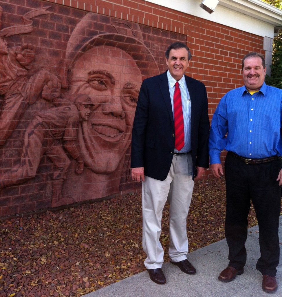Deane (the photographer), Jack, and Russ stopped at the Bob Feller Museum while in Dallas County.
